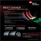 Best Choice International Trade is one of the leading tyre exporter in China, and a major supplier of tyres and engines in Beijing Municipality.